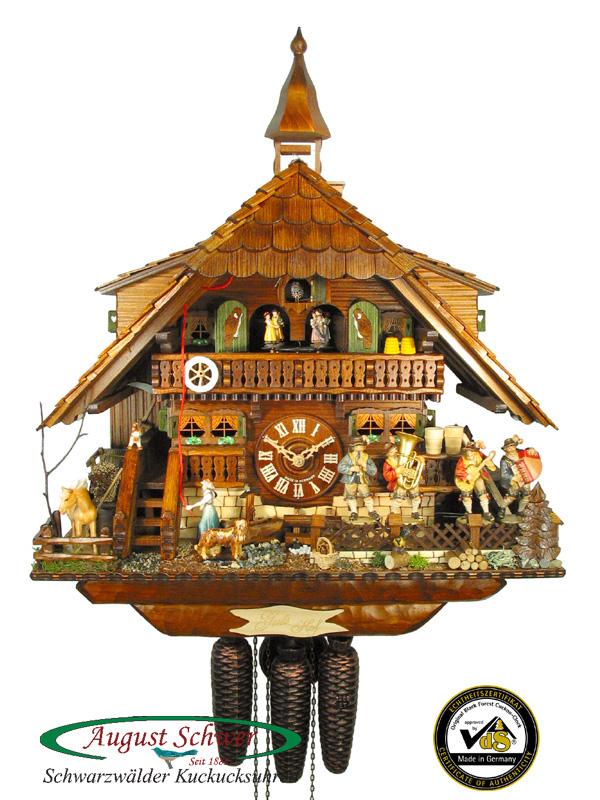 Black Forest Cuckoo Clock 8-Day German Oompah Band NEW : eBay