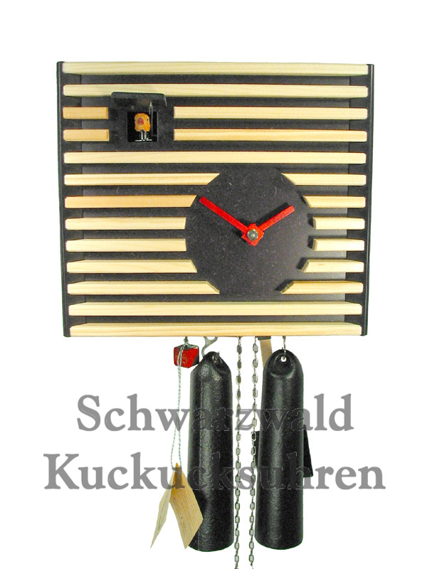 black forest modern art cuckoo clock bauhaus black new ebay. Black Bedroom Furniture Sets. Home Design Ideas
